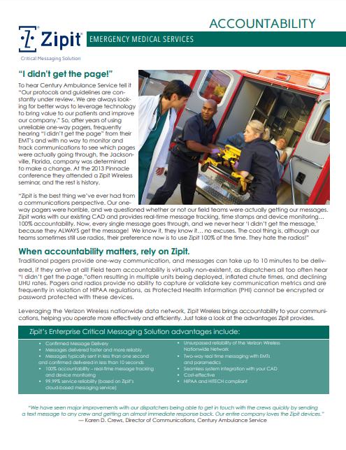 EMS Case Study – Centur Ambulance Service
