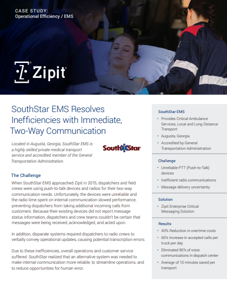 Operational Efficiency – SouthStar EMS