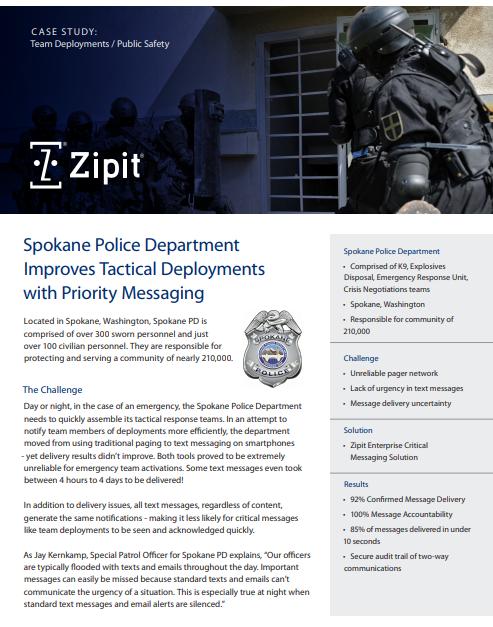 Team Deployments - Spokane PD