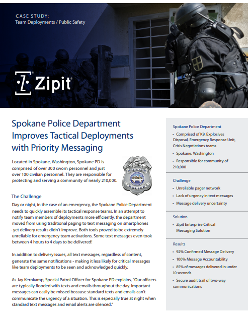 Team Deployments - Spokane PD