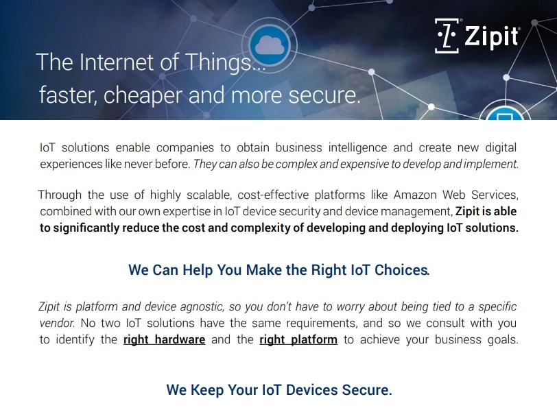 Faster, Cheaper, More Secure IoT